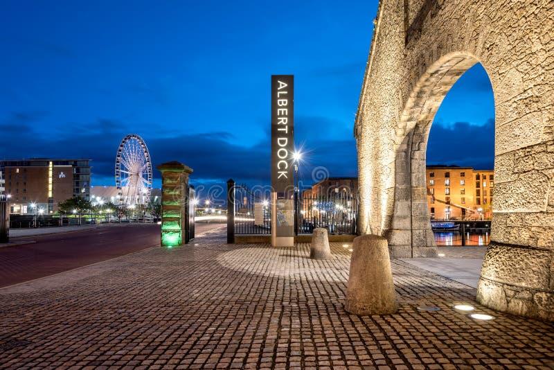 Albert Dock Waterfront Liverpool arkivbilder