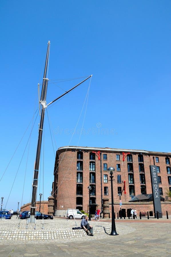 Albert Dock Waterfront, Liverpool. stock images