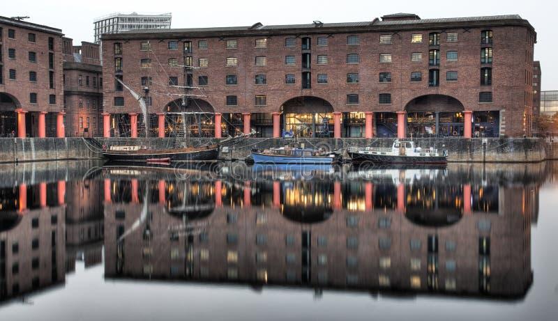 Download Albert docks stock image. Image of sunset, water, lights - 11460991