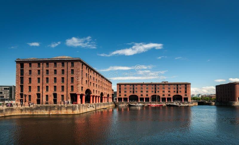 Albert Docks Liverpool arkivbild