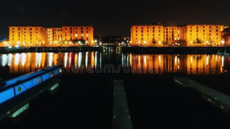 Albert Docks Liverpool arkivfoton