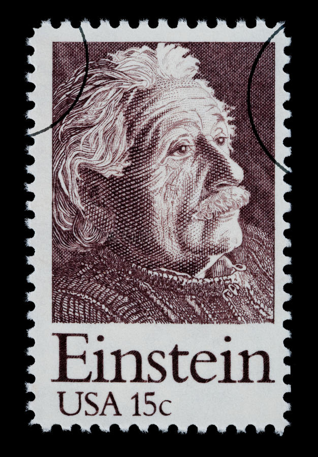 Albert Einstein邮票 皇族释放例证