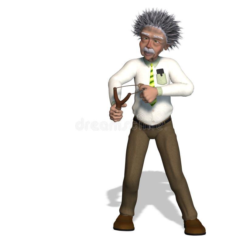 Albert Einstein vektor illustrationer