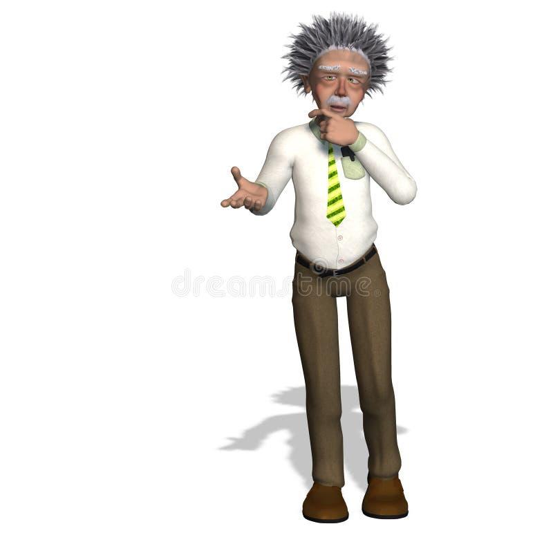 Albert Einstein royalty free illustration