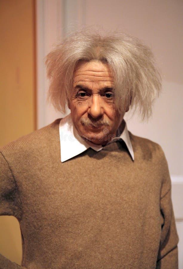 Albert Einstein alla l$signora Tussaud fotografia stock libera da diritti