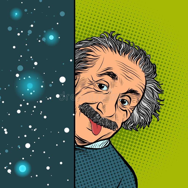 Albert Einstein, der Autor der Relativitätstheorie, die das Phänomen von schwarzen Löchern voraussagte stock abbildung