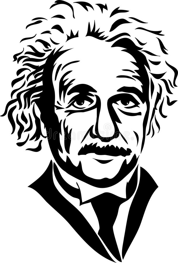 Albert Einstein/eps vector illustratie