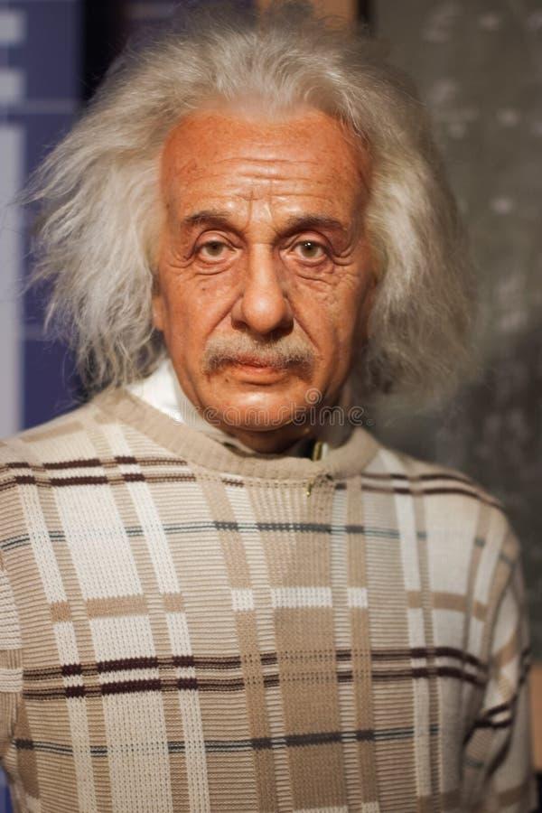 Albert Einstein figury woskowej eksponat zdjęcia stock