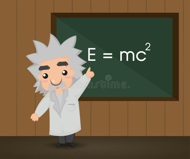 Albert Einstein Illustrazione illustrazione vettoriale