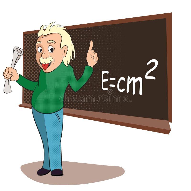 Albert Einstein komiczki royalty ilustracja