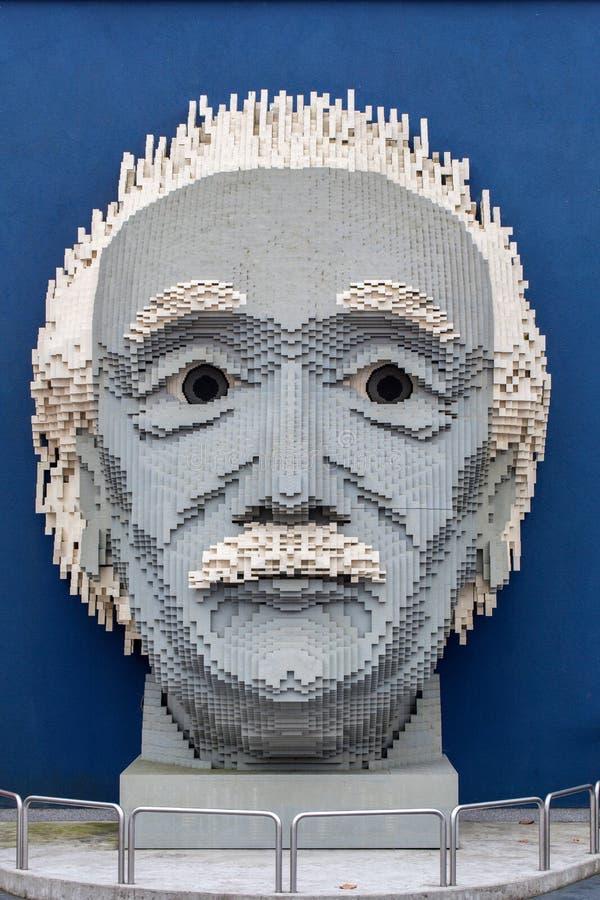 Albert Einstein in Lego stock afbeelding