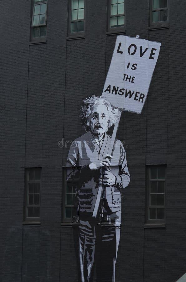 Albert Einstein malowidło ścienne obrazy royalty free