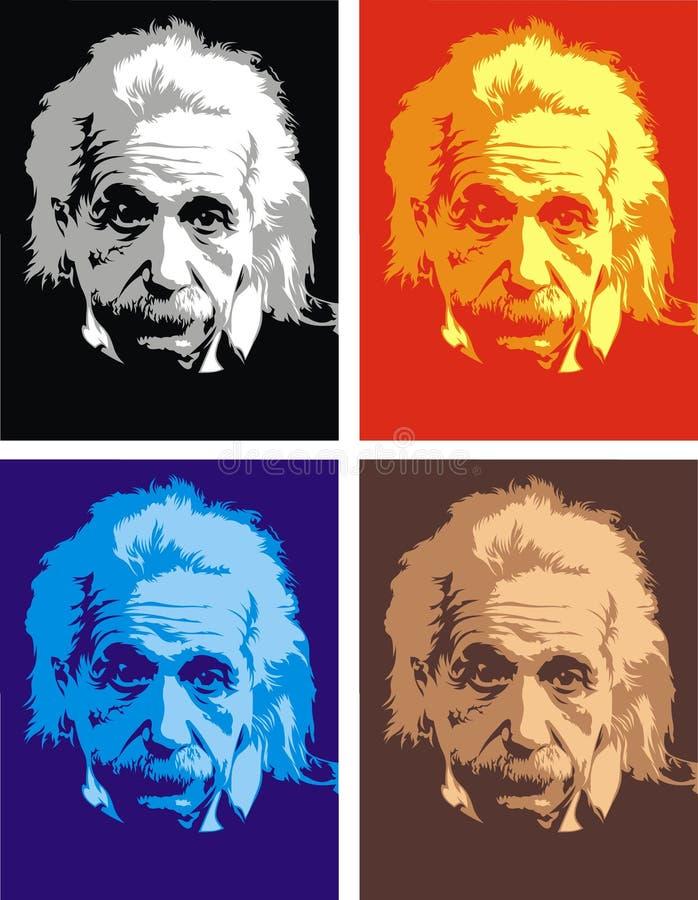 Albert Einstein - meine ursprüngliche Karikatur stock abbildung