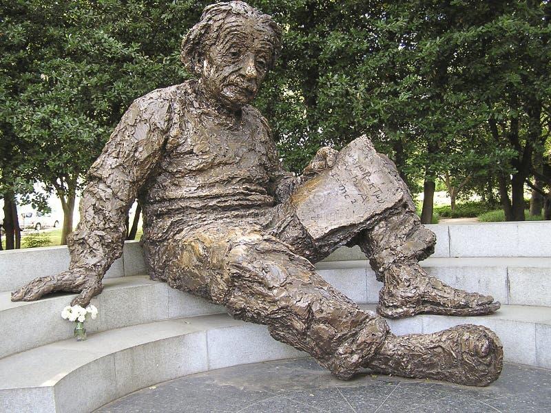 Albert Einstein minnesmärke fotografering för bildbyråer