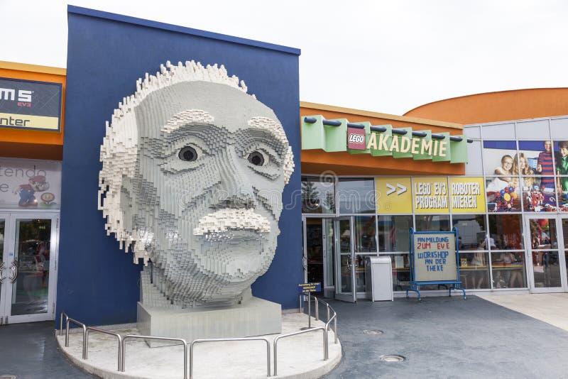 Albert Einstein-mislukking in Legoland royalty-vrije stock fotografie
