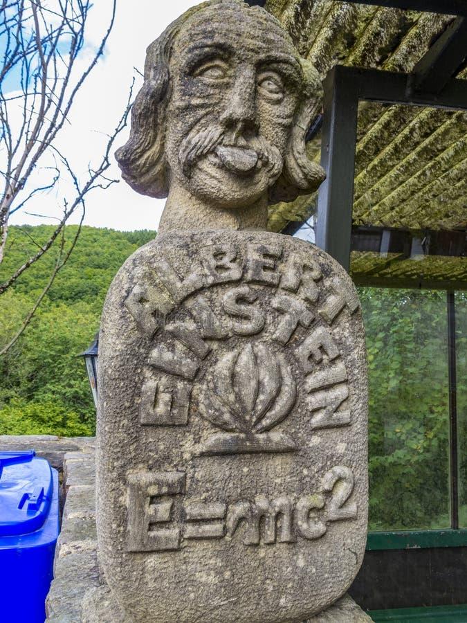 Albert Einstein monument in Irrhausen, Germany royalty free stock photography