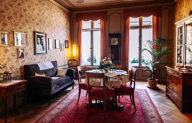 Albert Einstein Museum Townhouse na cidade velha Berna, Suíça imagens de stock royalty free