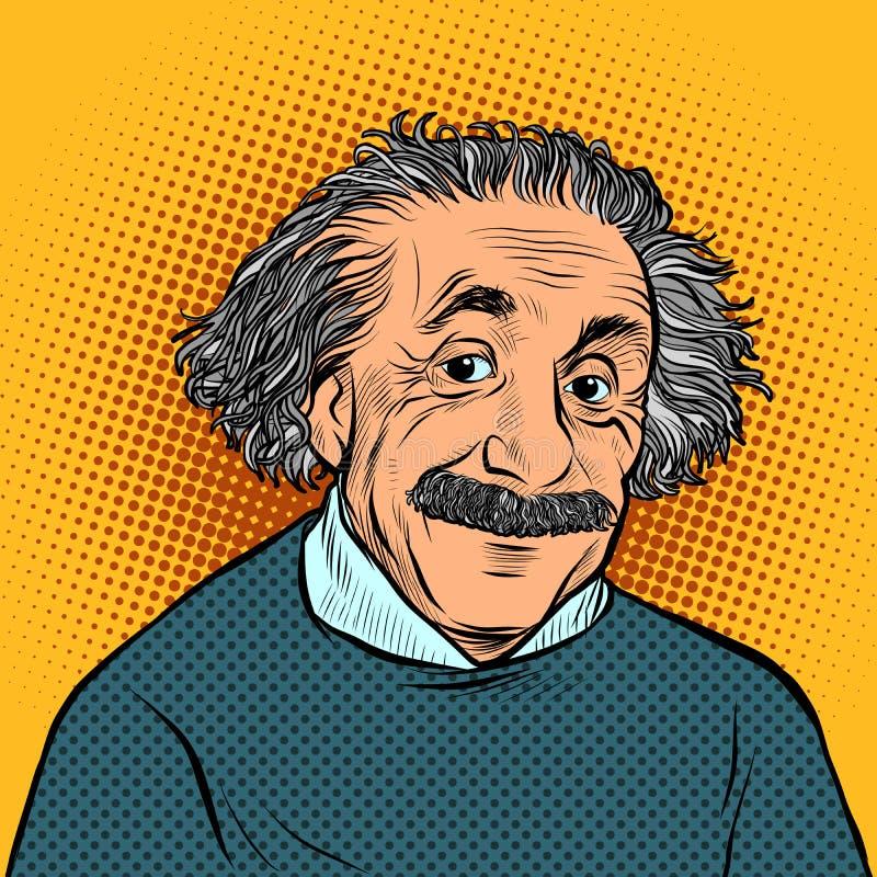 Albert Einstein naukowiec, fizyk nauka i edukacja, royalty ilustracja