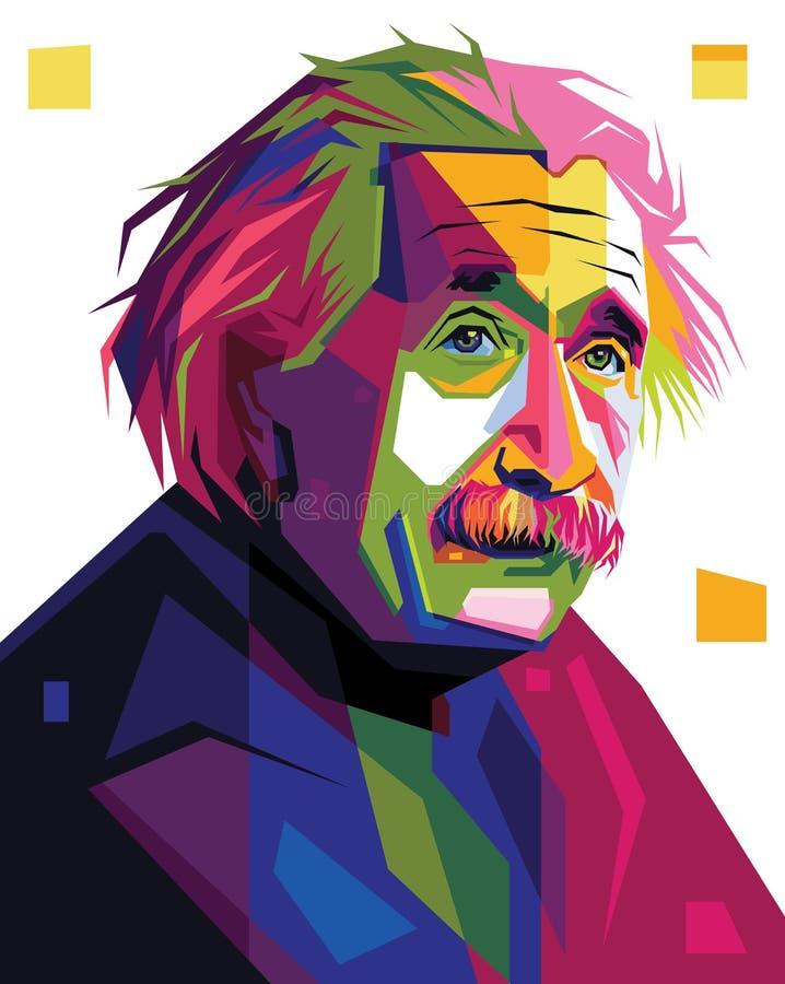 Albert Einstein nell'illustrazione del ritratto di Pop art royalty illustrazione gratis