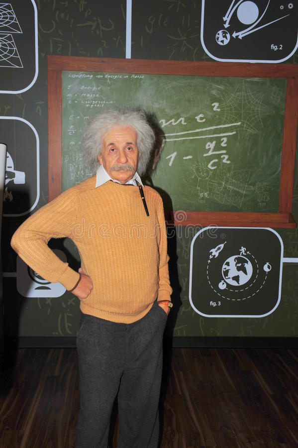 Albert Einstein, Nobel prize winner physicist. The legendary physicist, Albert Einstein, at Madame Tussaud's in Vienna