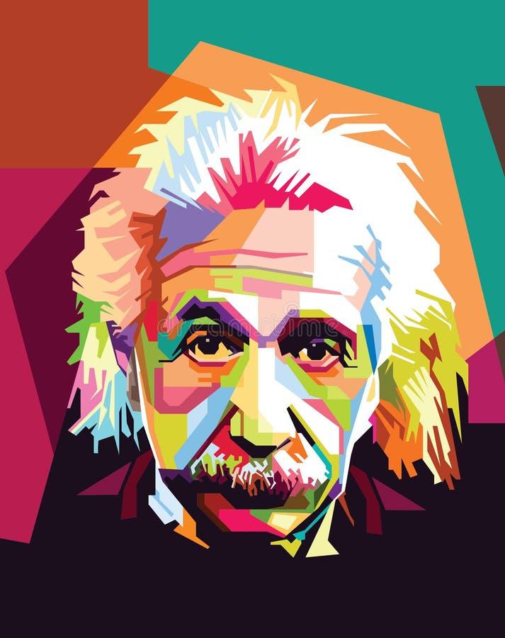 Albert Einstein pop Art royalty free illustration
