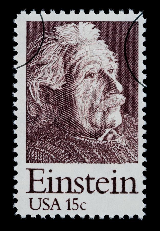 Albert Einstein Postage Stamp. UNITED STATES AMERICA - CIRCA 1960: A postage stamp printed in the USA showing Albert Einstein, circa 1960