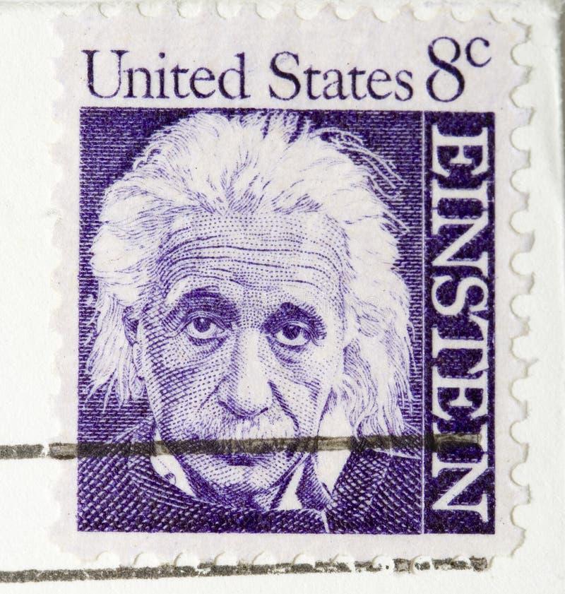 Albert Einstein stämpeltappning 1964 royaltyfri bild