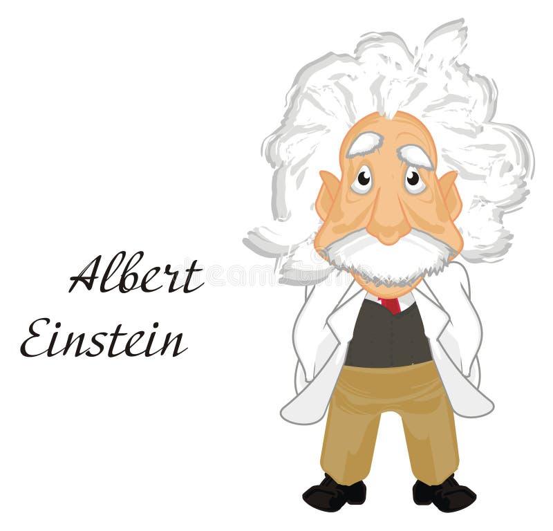 Albert Einstein und Wörter lizenzfreie abbildung