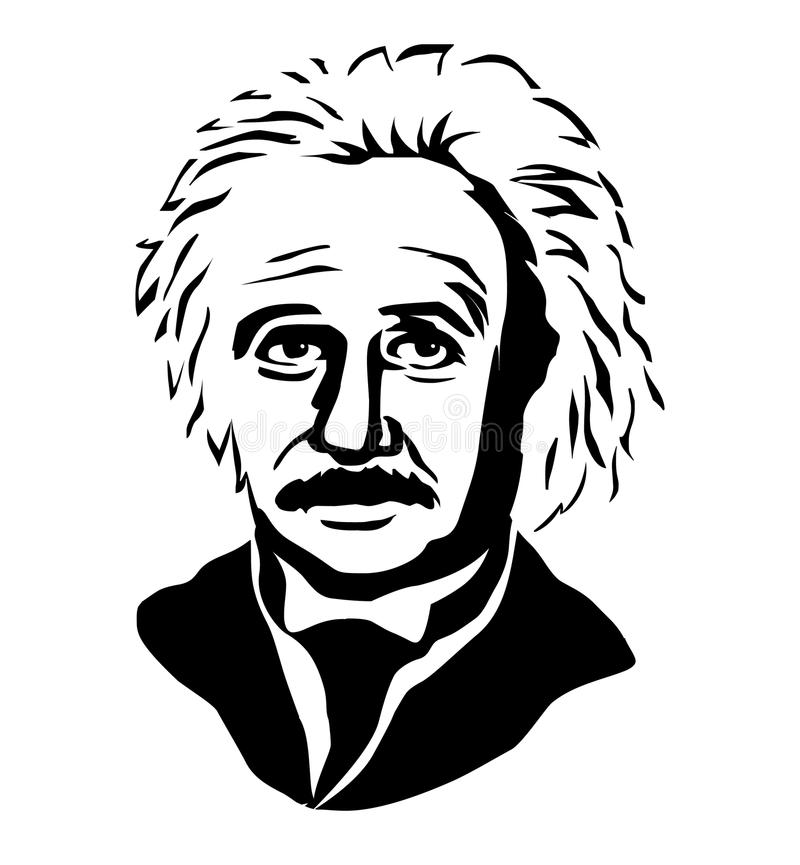 Albert Einstein Vectorportret van Albert Einstein vector illustratie