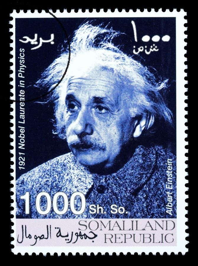 Albert- EinsteinBriefmarke stockfotografie
