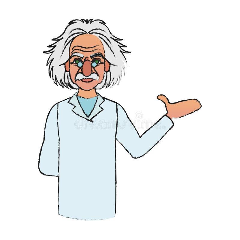 Albert- Einsteinikonenbild stock abbildung
