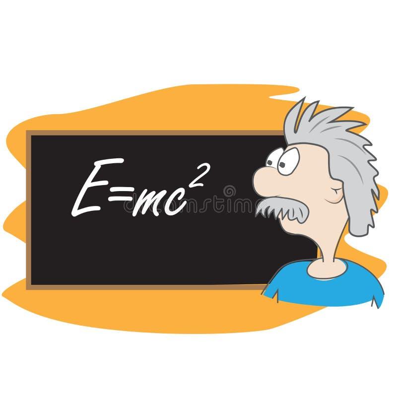 Albert- Einsteinkarikatur stock abbildung