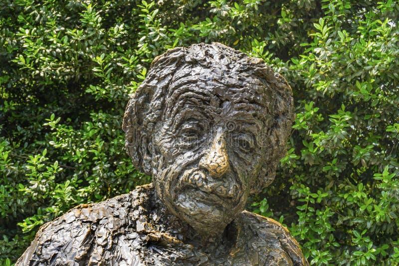 Albert Einstin statuy Pamiątkowy washington dc obrazy royalty free