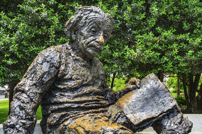 Albert Einstin statuy Pamiątkowy washington dc fotografia stock