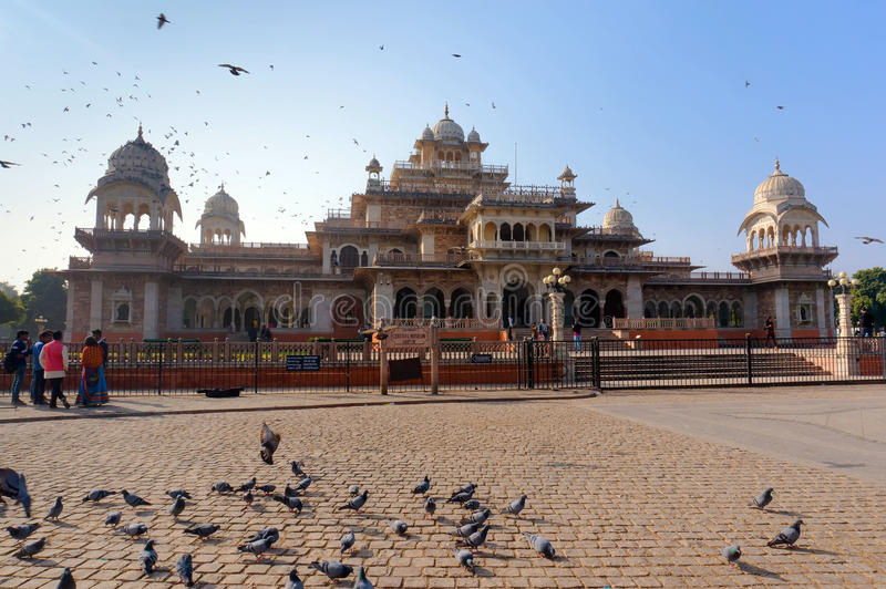 Albert Hall - Central Museum, Jaipur stock image
