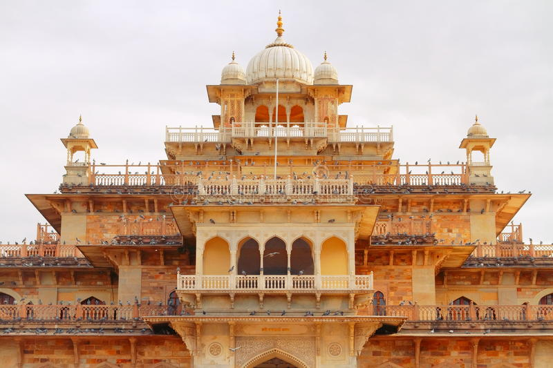 Albert Hall Museum. Is a Government Central Museum in Jaipur city. Rajasthan,India. It is named after King Edward VII (Albert Edward).designed by Sir Samuel stock photo