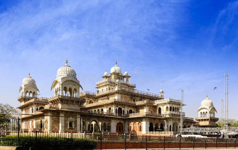 The Albert Hall Museum in Jaipur, Rajasthan, India. The Albert Hall Museum Government Central Museum is the oldest museum of the state in Jaipur, Rajasthan stock photo