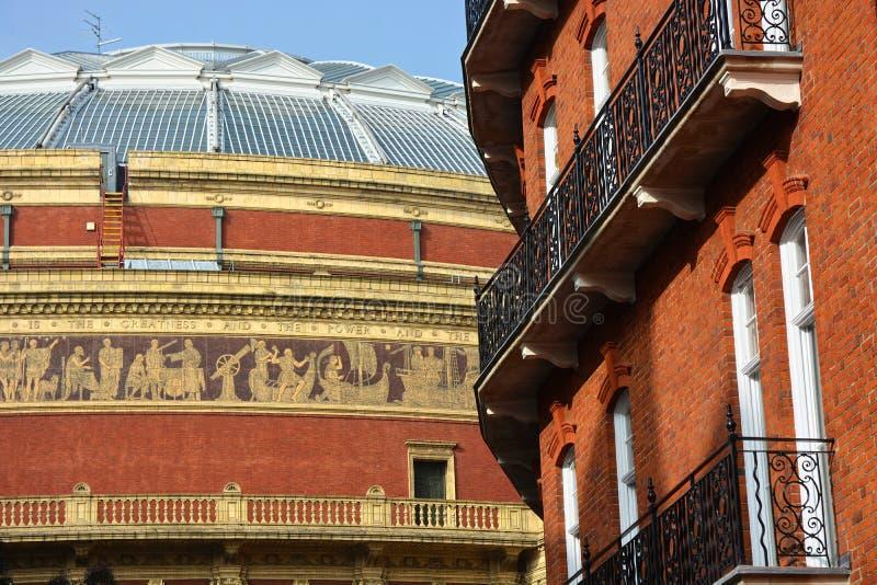 Albert Hall royal, détail Londres, R-U de frise photo libre de droits