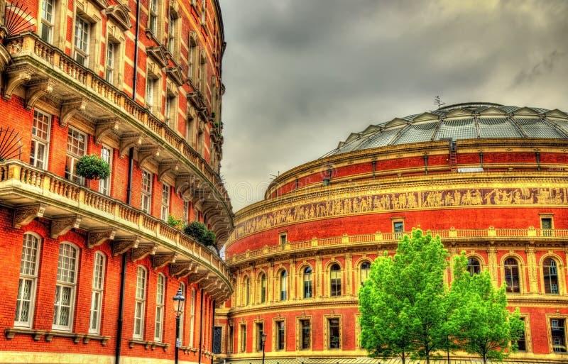 Albert Hall royal, un lieu de rendez-vous d'arts à Londres photos stock