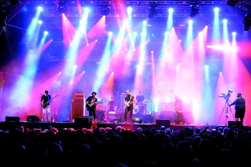 Albert Hammond Jr. band in concert at Primavera Sound 2015 Festival. BARCELONA - MAY 27: Albert Hammond Jr. band in concert at Primavera Sound 2015 Festival, ATP royalty free stock image