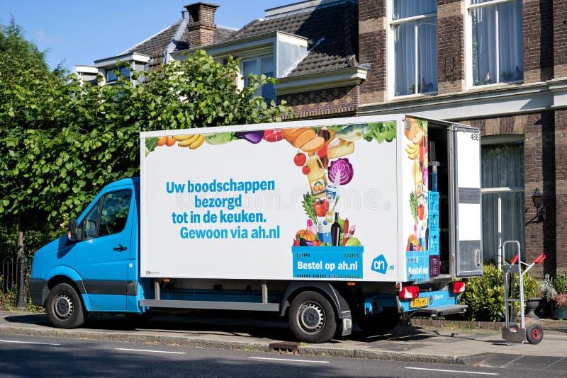 Albert Heijn delivery van stock image