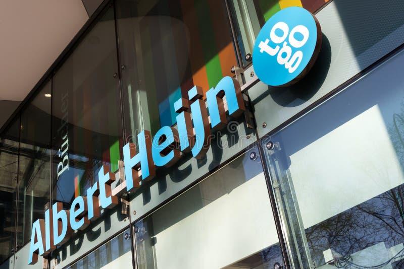 Albert Heijn iść sklep wielobranżowy zdjęcie royalty free