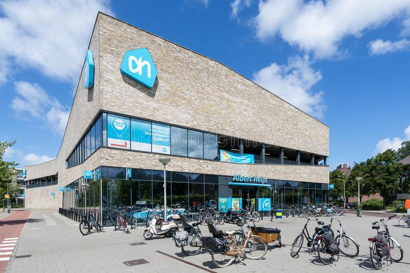 Albert Heijn supermarket in Delft, Netherlands royalty free stock images