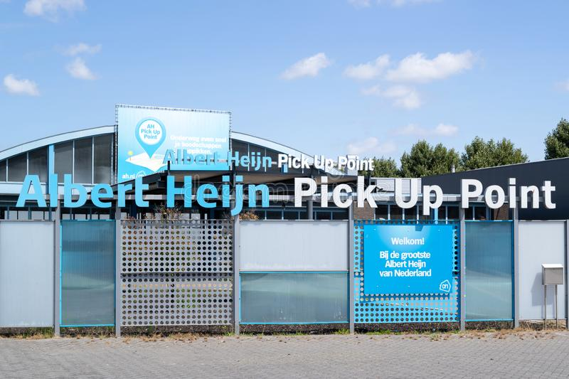 Albert Heijn Pick Up Point royaltyfria foton
