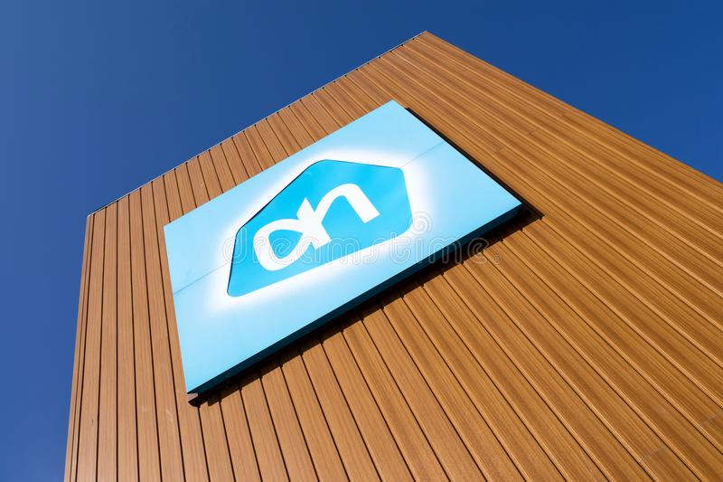 Albert Heijn sign at branch royalty free stock photos