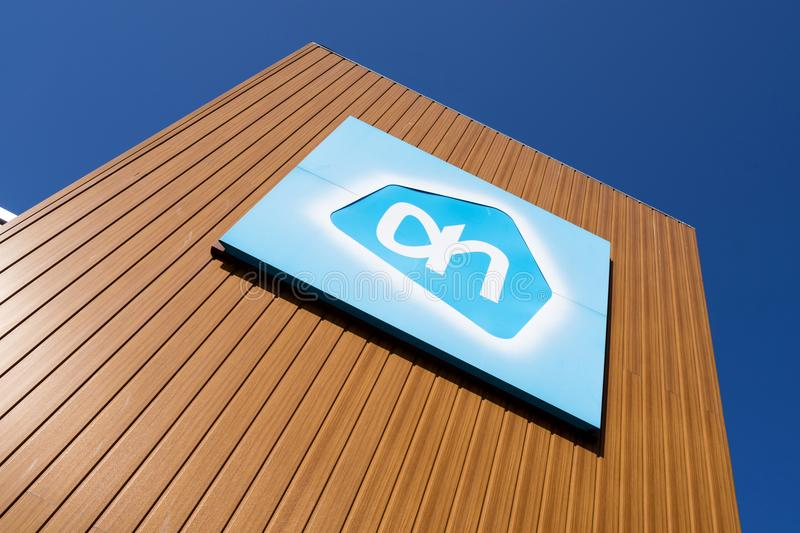 Albert Heijn sign at branch royalty free stock images