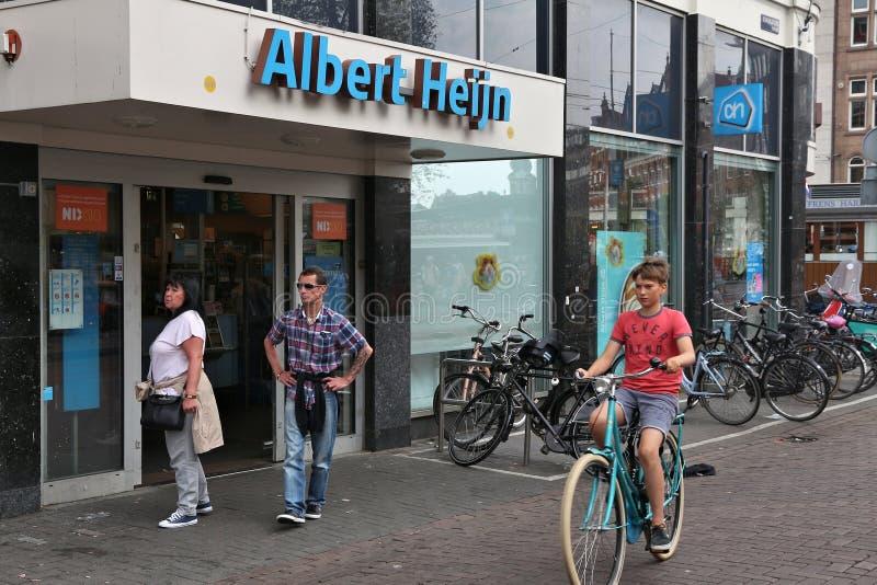 Albert Heijn Supermarket images stock