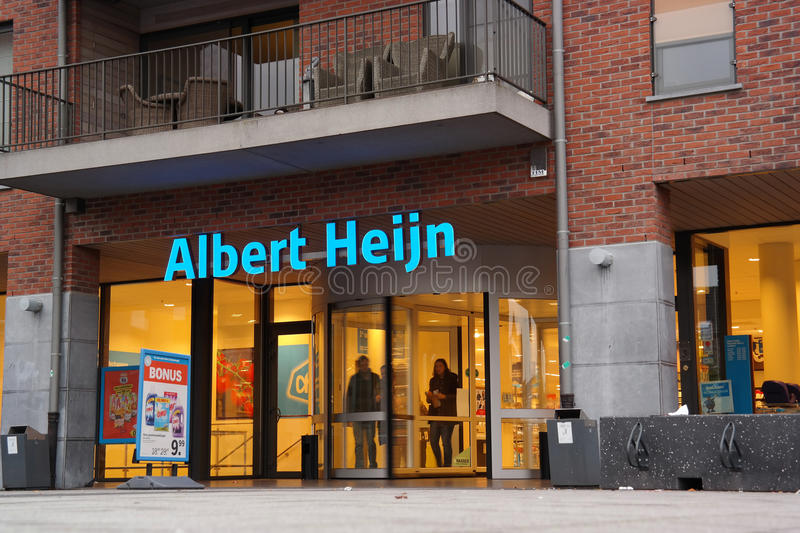Albert Heijn Supermarket stock image