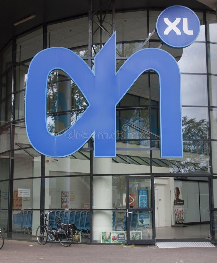 Albert-heijn XL Einzelhandelslebensmittelgeschäft in Holland lizenzfreies stockbild
