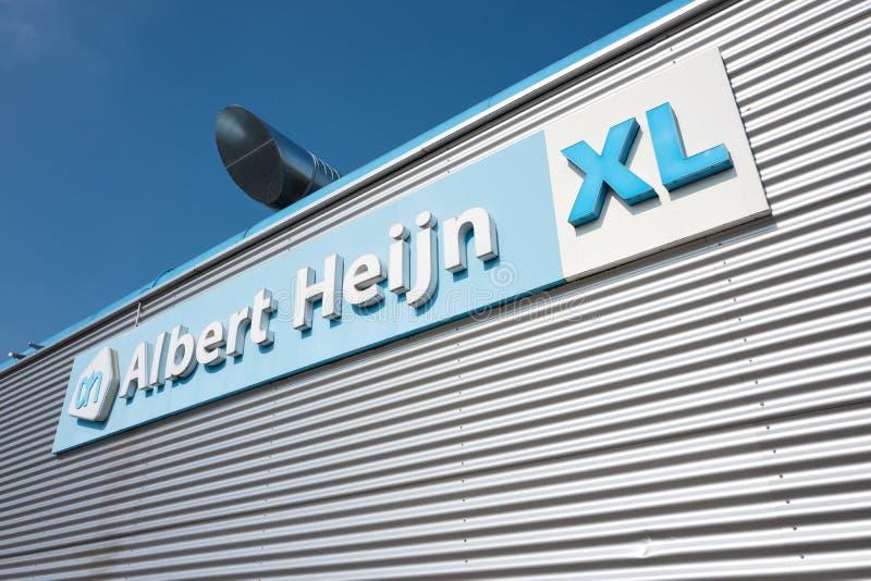 Albert Heijn XL sign at branch stock photos